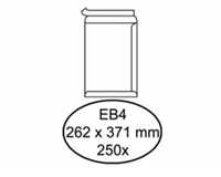 Quantore Envelop  akte EB4 262x371mm zelfklevend wit 250stuks