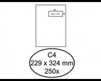 Quantore Envelop  229x324mm venster 4x11cm rechts zelfkl 250