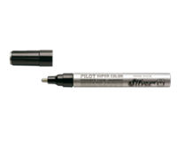 Pilot Viltstift  Super SC-S-M lakmarker rond zilver 2mm