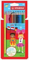 Stabilo kleurpotlood Color 12 potloden in een kartonnen etui