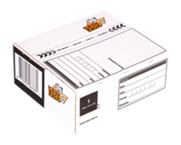 Cleverpack Postpakketbox 2  200x140x80mm wit 25stuks