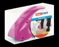 Tesapack handdispenser Packn Go, roze