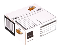 Cleverpack Postpakketbox 4  305x215x110mm wit 25stuks