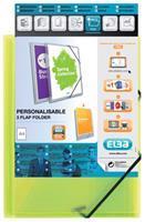 Elba Elastomap  A4 Polyvision inclusief insteektas groen