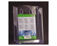 Sigel SI-LH117 Folderhouder Wandmodel DIN Lang Transparant Acryl
