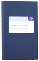 Atlanta Registerboek 105 x 165 mm. 120 blz. blauw. gelijnd (pak 5 blokken)