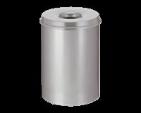 Papierbak met vlamdover Vepabins 50 liter 33.5cm grijs