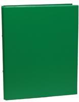 Aurora Ringmap voor ft A4, 4 ringen van 25 mm, uit PVC, groen