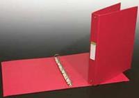 Aurora Ringmap voor ft A4, 4 ringen van 25 mm, uit PVC, rood