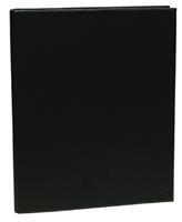 Aurora Ringmap voor ft A4, 4 ringen van 25 mm, uit PVC, zwart