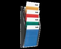 Helit Folderhouder  wand 4xA4 zwart