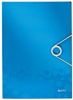 Elastomap  WOW 3-kleps A4 PP blauw