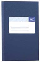 Atlanta Registerboek 105 x 165 mm. 200 blz. blauw. gelijnd (pak 5 blokken)