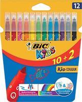BIC Viltstift  217 kid couleur 750 assorti medium etui à 12st