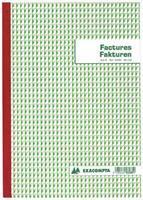 Exacompta factuurboek, ft 21 x 29,7 cm, tweetalig, tripli (50 x 3 vel)