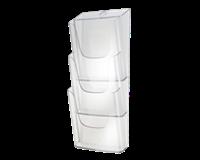 Sigel SI-LH135 Folderhouder Wandmodel 3xA4 Transparant Acryl