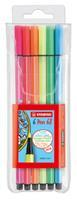 Stabilo Pen 68 - 6 Fluoriserende Kleuren