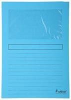 Insteekmap met venster Forever L-model A4. 120 g/m². lichtblauw (pak 100 stuks)