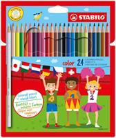Stabilo kleurpotlood Color 24 potloden in een kartonnen etui