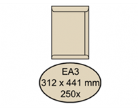 Quantore Envelop  akte EA3 312x441mm cremekraft 250stuks