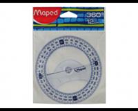 Maped Kompasroos  120mm polystyrol transparant