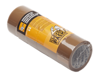 Cleverpack Verpakkingstape  50mmx66m bruin PP