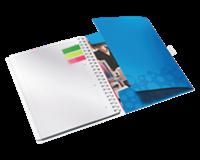 Notitieboek Leitz WOW Bi Mobile A4 PP lijn blauw