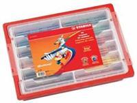 Stabilo kleurpotlood Trio 96 potloden, in een plastic doos