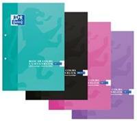 Elba Oxford SCHOOL cursusblok, geassorteerde kleuren, ft A4, 100 vel, commercieel geruit