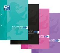 Elba Oxford SCHOOL cursusblok, geassorteerde kleuren, ft A4, 100 vel, geruit 5 mm