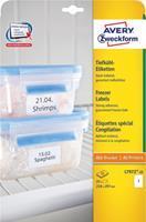 Avery diepvriesetiketten Ft 210 x 297 mm (b x h), wit, doos van 25 etiketten