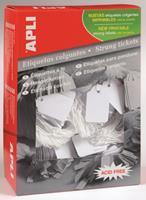 APLI Label  karton nr387 13x20mm wit 1000stuks