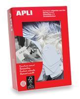 APLI Label  karton nr383 7x19mm wit 1000stuks