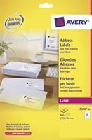 Avery Etiket  L7160-40 63.5x38.1mm wit 840stuks