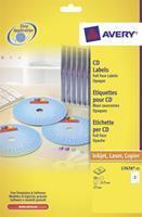 Avery Etiket  L7676-25 CD full size mat wit 50stuks