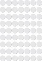 Apli ronde etiketten in etui diameter 10 mm, wit, 378 stuks, 63 per blad (2660)