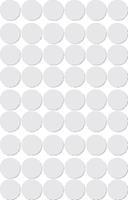 Apli ronde etiketten in etui diameter 13 mm, wit, 210 stuks, 35 per blad (2661)