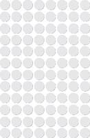 Apli ronde etiketten in etui diameter 8 mm, wit, 480 stuks, 96 per blad (1183)