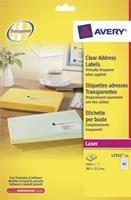 Avery Transparante QuickPeel etiketten 38.1 x 21.2 mm. L7551 (pak 1625 stuks)