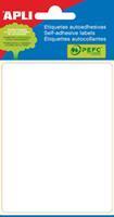 Apli witte etiketten ft 81 x 110 mm (b x h), 6 stuks, 1 per blad (2688)