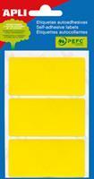 Apli gekleurde etiketten in etui geel (2071)