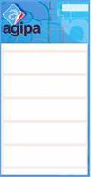 Agipa witte etiketten in etui ft 12 x 18 mm (b x h), 210 stuks, 30 per blad