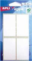 Agipa witte etiketten in etui ft 30 x 55 mm (b x h), 28 stuks, 4 per blad