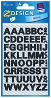 Avery Etiketten cijfers en letters A-Z, 2 blad, zwart, waterbestendige folie