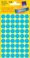 Avery Etiket  3142 rond 12mm blauw 270stuks