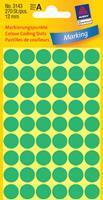 Avery Etiket  3143 rond 12mm groen 270stuks