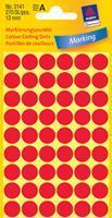 Avery Etiket  3141 rond 12mm rood 270stuks