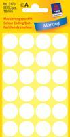 Avery Etiket  3170 rond 18mm wit 96stuks