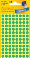 Avery Etiket  3012 rond 8mm groen 416stuks