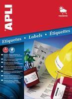 Apli Weerbestendige etiketten ft 64,6 x 33,8 mm (b x h), 480 stuks, 24 per blad, doos van 20 blad
